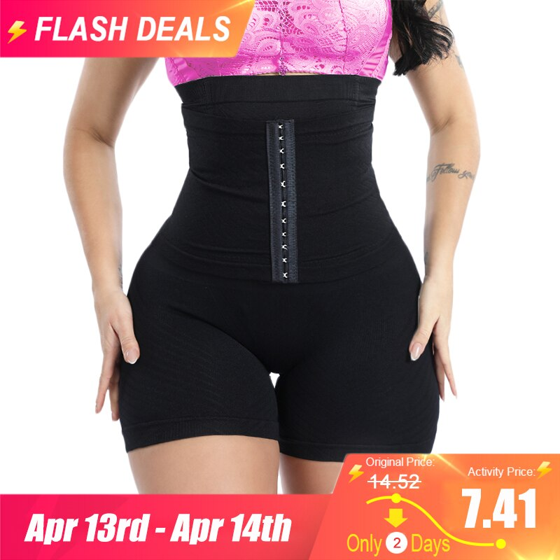GUUDIA Women Waist Trainer Shapewear Tummy Control Body Shaper Shorts Hi-Waist Butt Lifter Thigh Slimmer Slimming Buckle Panties