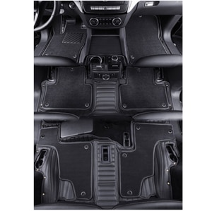 Custom special car floor mats for Skoda Kodiaq 7 seats 2020 waterproof two layers car carpets for Kodiaq 2019-2017