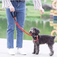 dog leash reflective leashes for dogs walking elastic leash for dog walker pet belt puppy accessories para gatos dogs leashes