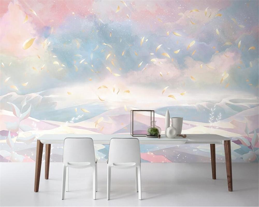 Beibehang personalizado moderno fawn menina bonita sala de crianças tv fundo quarto papel parede