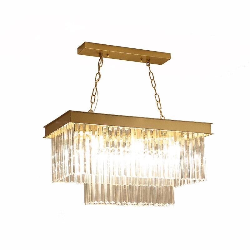 الأمريكية مصباح لغرفة المعيشة غرفة الطعام الكريستال الثريا ضوء الفاخرة الحديثة مستطيلة الإبداعية شخصية طاولة طعام dinin