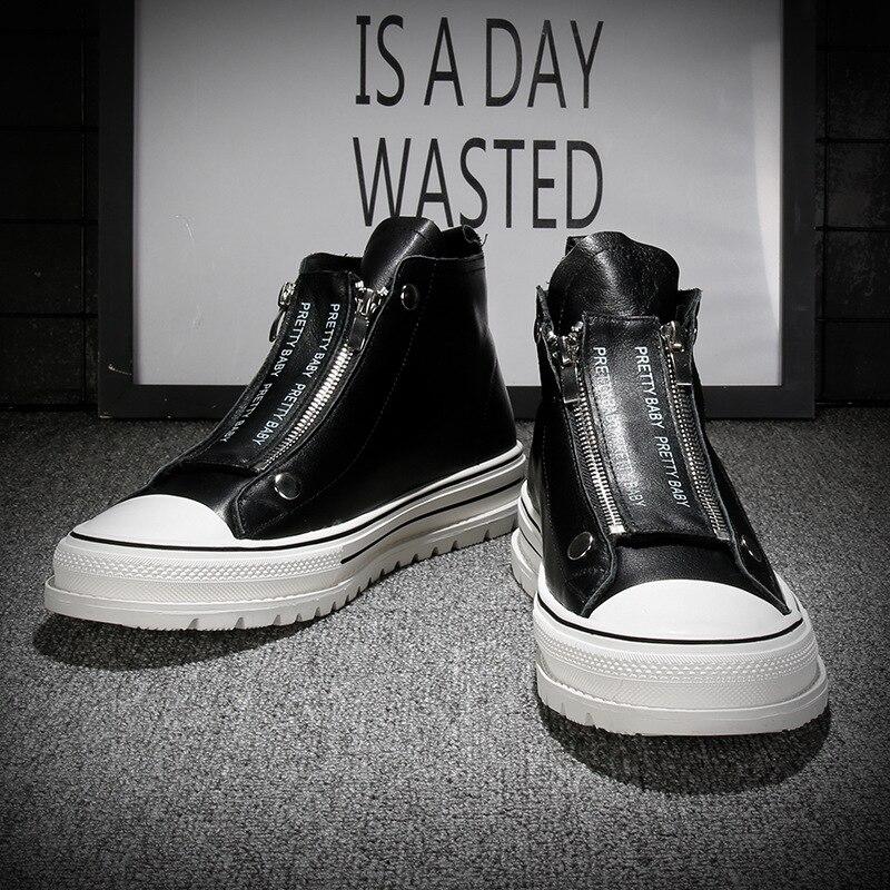 2020 أحذية رياضية الرجال جلد طبيعي أسود حذاء أبيض عالية الجودة أحذية رياضية الرجال حذاء كاجوال جلد البقر العلامة التجارية الذكور الأحذية A2094
