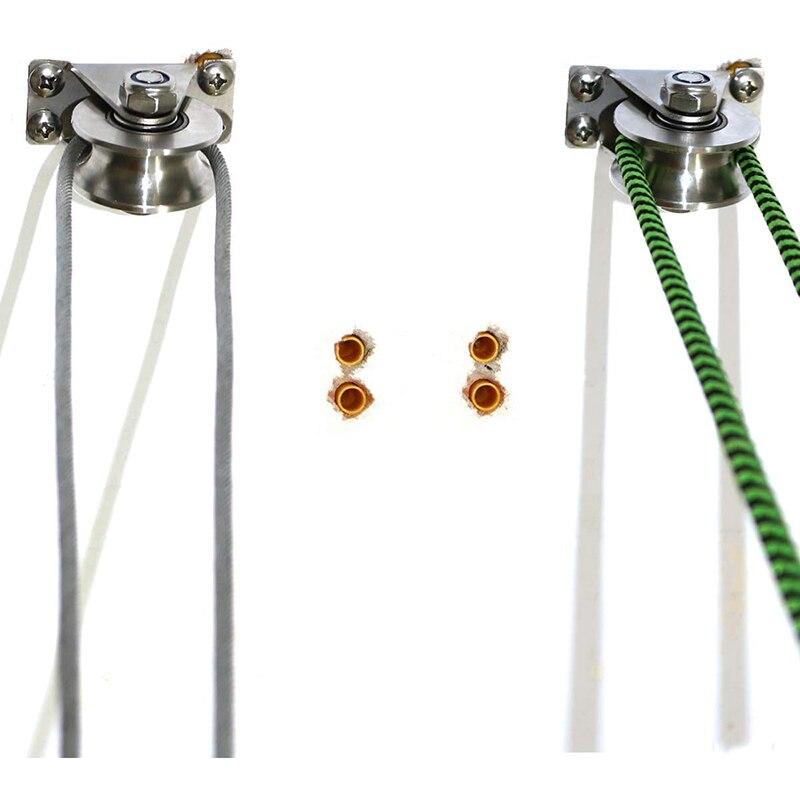 1Pack U-Type Stainless Steel Pulley Block Mute Bearings Groove Sliding Roller Track Wheel enlarge