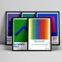 ellsworth kelly abstract exhibition museum poster spectrum colors arranged by chance art prints spectrum iv modern home decor