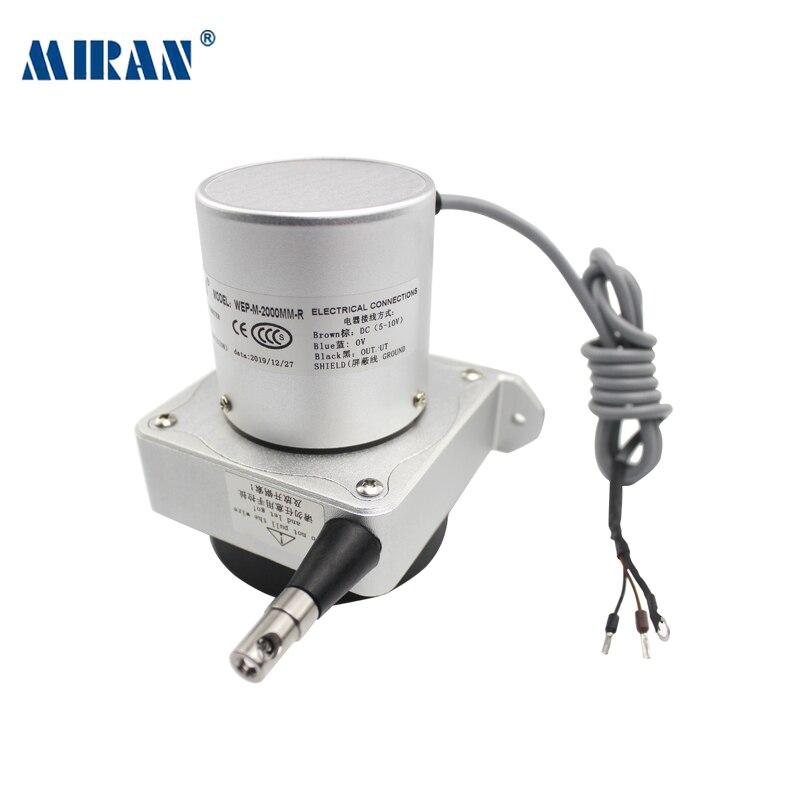 Micro WEP-M 1500mm-4000mm dibujar potenciómetro de hilo Cable de tracción codificador lineal de desplazamiento/Sensor/transductor