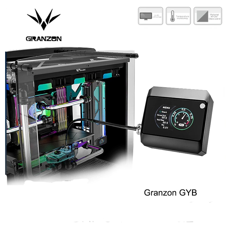 Granzon GYB Fully-Automatic Seal Tester For Computer Water Cooling Gas/Stress/Water Test System + OLED Screen Leak-Proof Body