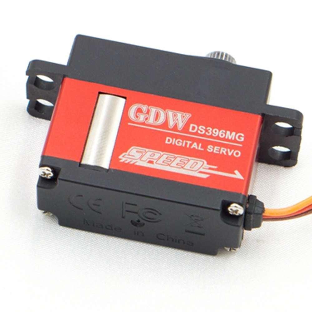 GDW DS396MG 12KG alto par de alta tensión Servo Digital de engranaje de Metal para modelos RC