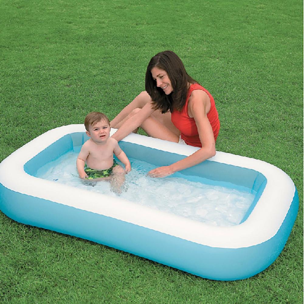 حوض استحمام للأطفال للاستخدام المنزلي ، مسبح قابل للنفخ مربع ، 166 × 100 × 28 سنتيمتر ، CD شحن مجاني