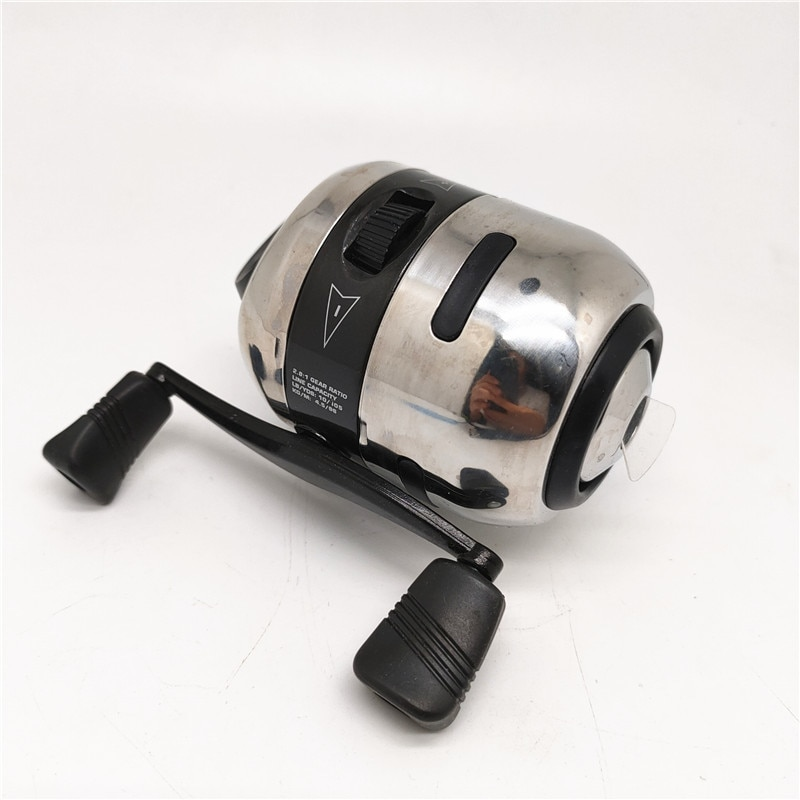 Spinning Wheel Type Fishing Reel Mini Bow Slingshot Catapult Hunting Shooting Alloy Fishing Reel Speed Ratio 2.8:1 enlarge