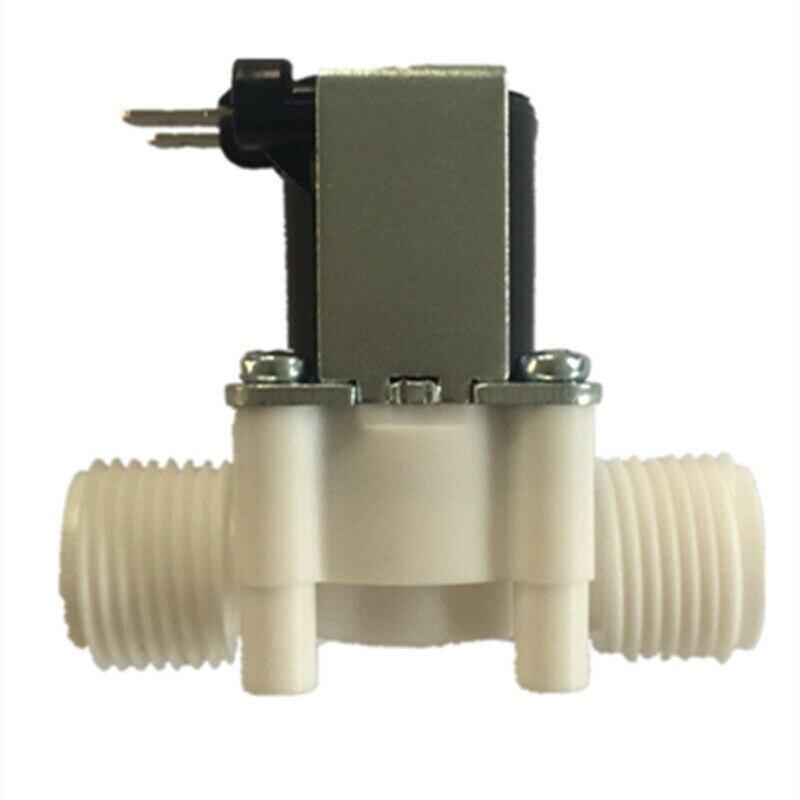 "Válvula de solenoide de plástico de 1/2 "", dispensador magnético de lavadora de 5V/12V 24V 36/110/220V, interruptor para controlador de presión neumático de agua"
