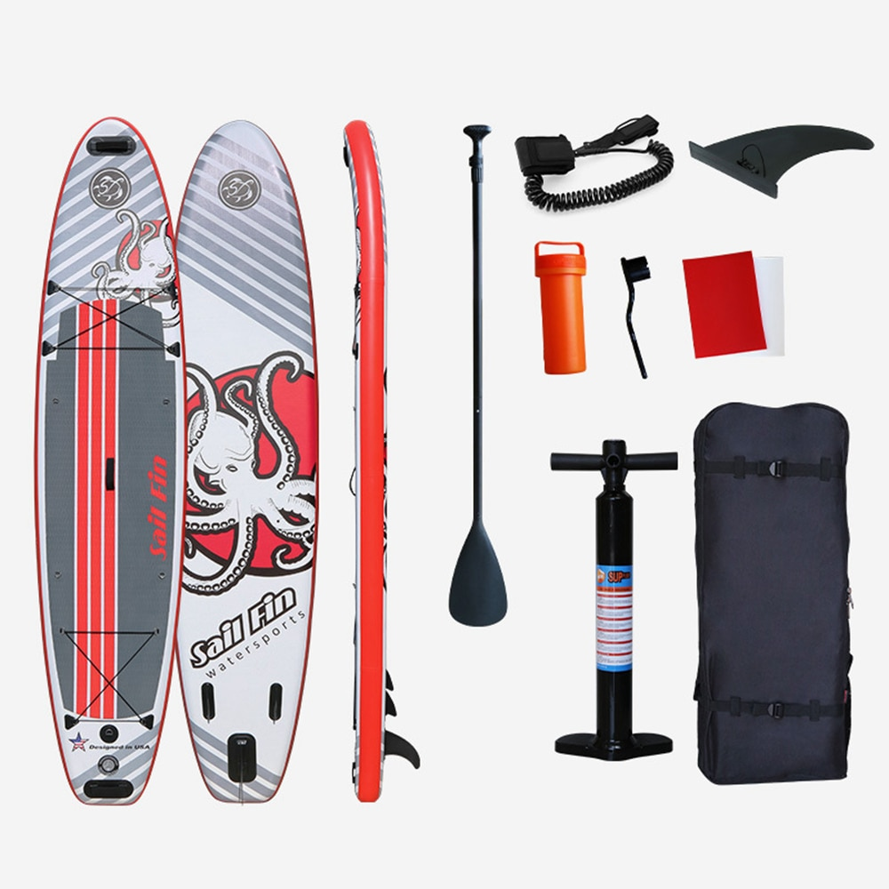 Inflatable Stand Up Paddle Board Surfing Sup-Board Surfboard Surf Set With Backpack Leash Pump Fins 365 490*81*15 cm
