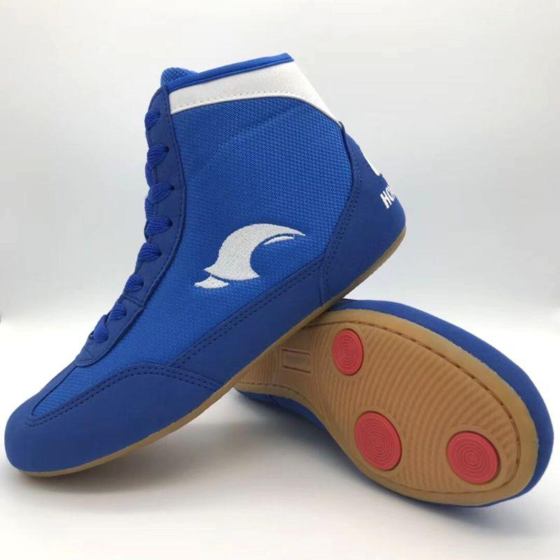 Auténticas zapatillas de lucha VeriSign para hombres, zapatos tendones de entrenamiento al final, zapatillas de cuero, zapatillas profesionales de boxeo