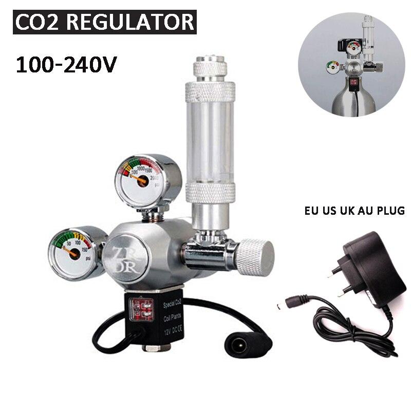 Aquarium DIY CO2 regulator, solenoid valve bubble counter CO2 control system pressure reducing valve, carbon dioxide equipment