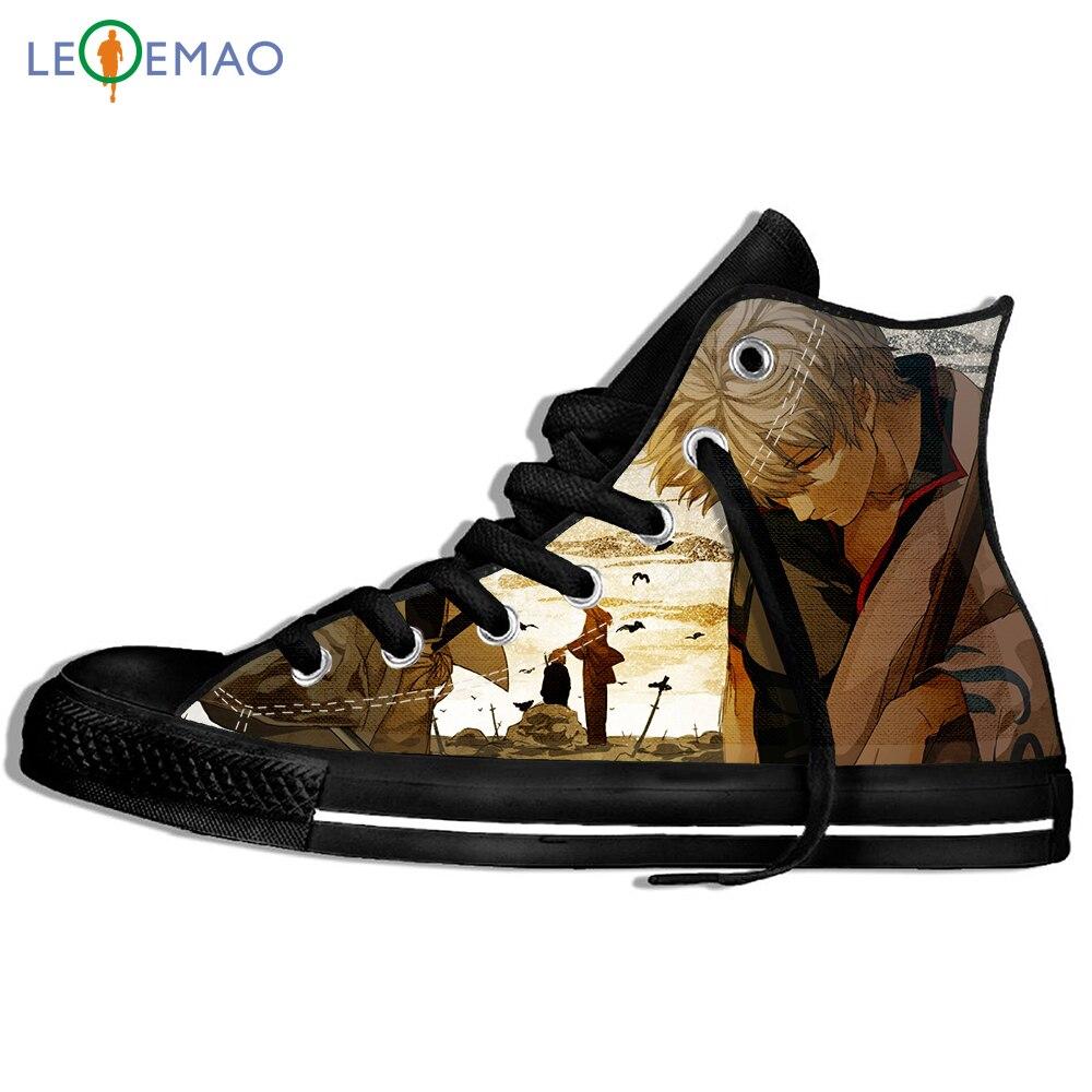 أحذية رياضية مطبوع عليها صورة مخصصة أحذية كاموي جينتاما ذات الروح الفضية أنيمي ساداهارو إليزابيث جينتاما كيمونو أحذية محارب ساموراي لطيفة