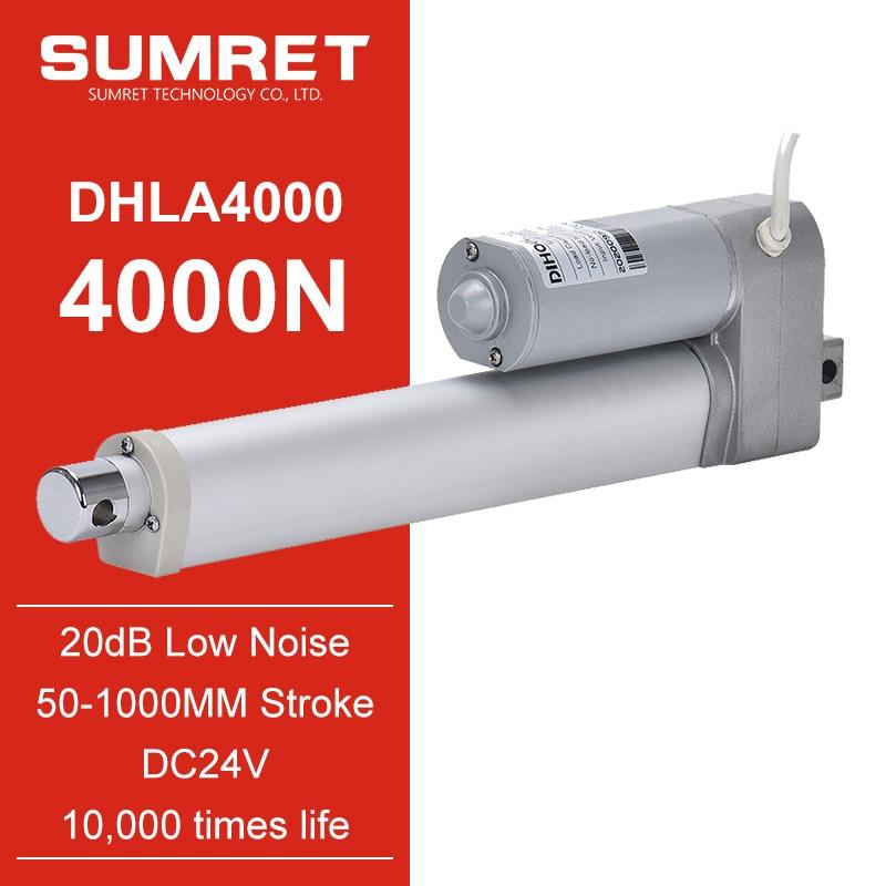 linear actuator 400mm 500mm telescopic tubular pushrod low noise micro gear motor dc 24v electric te