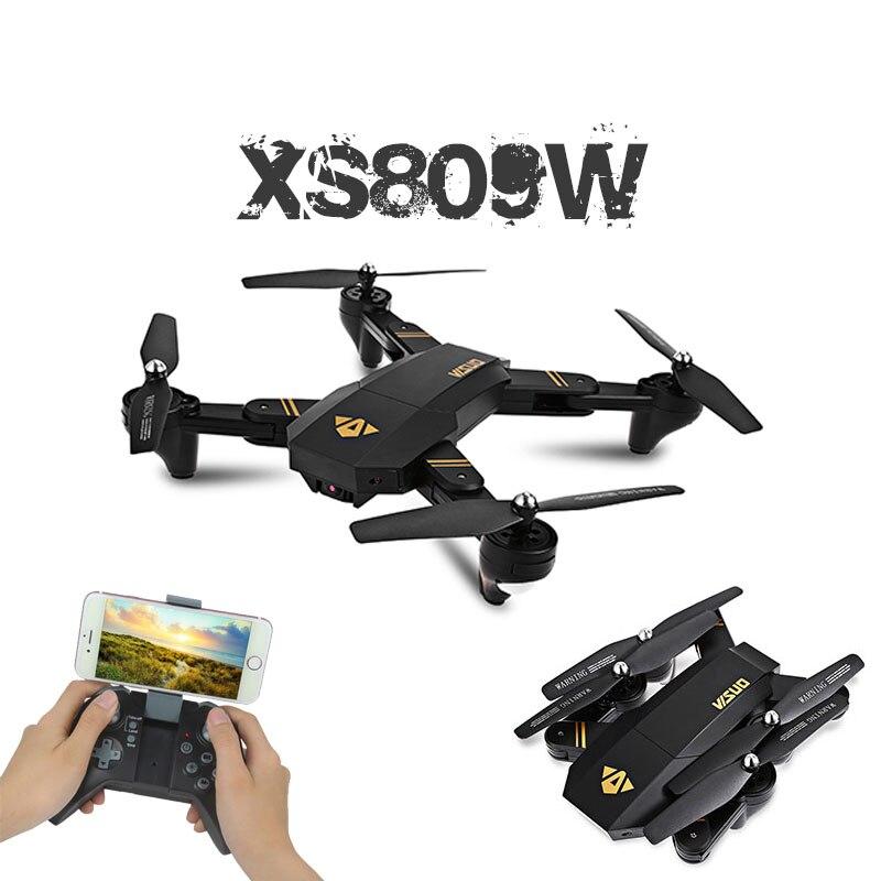 Visuo XS809W XS809HW quadcopter ミニ折りたたみ selfie ドローンと wifi fpv 0。3MP/2MP カメラ高度ホールド rc dron vs jjrc H47 E58