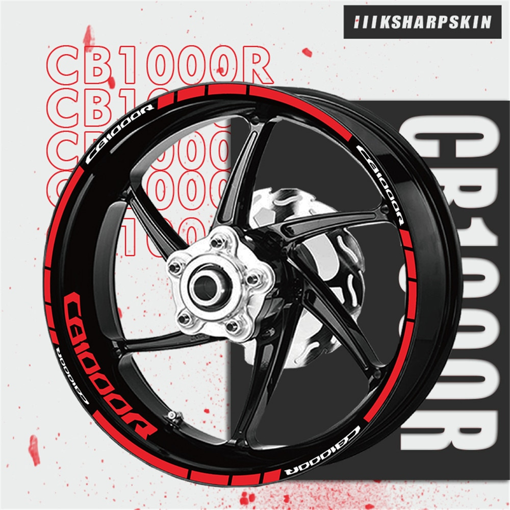 Светоотражающие наклейки на колеса, наклейки на мотоцикл, декоративные наклейки на обод, супер слизистая мембрана для Honda CB1000R CB 1000R