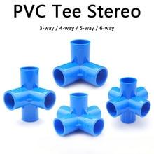 Raccords de tuyaux en PVC stéréo   Raccords de tuyaux en PVC 3/4/5/6 voies, jardin domestique, raccords de tuyaux dirrigation, connecteurs deau, outils de bricolage 1 pièce