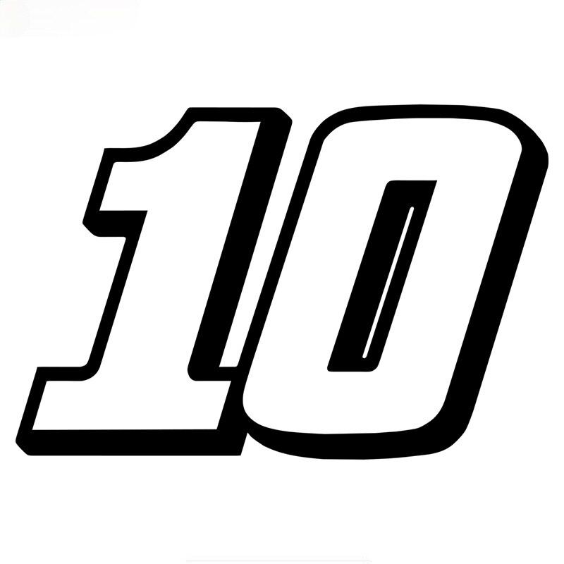 Racing номерной знак 10 шлем автомобильная наклейка «Доберман» забавные виниловые аксессуары для мотоциклов наклейки KK10 * 7 см