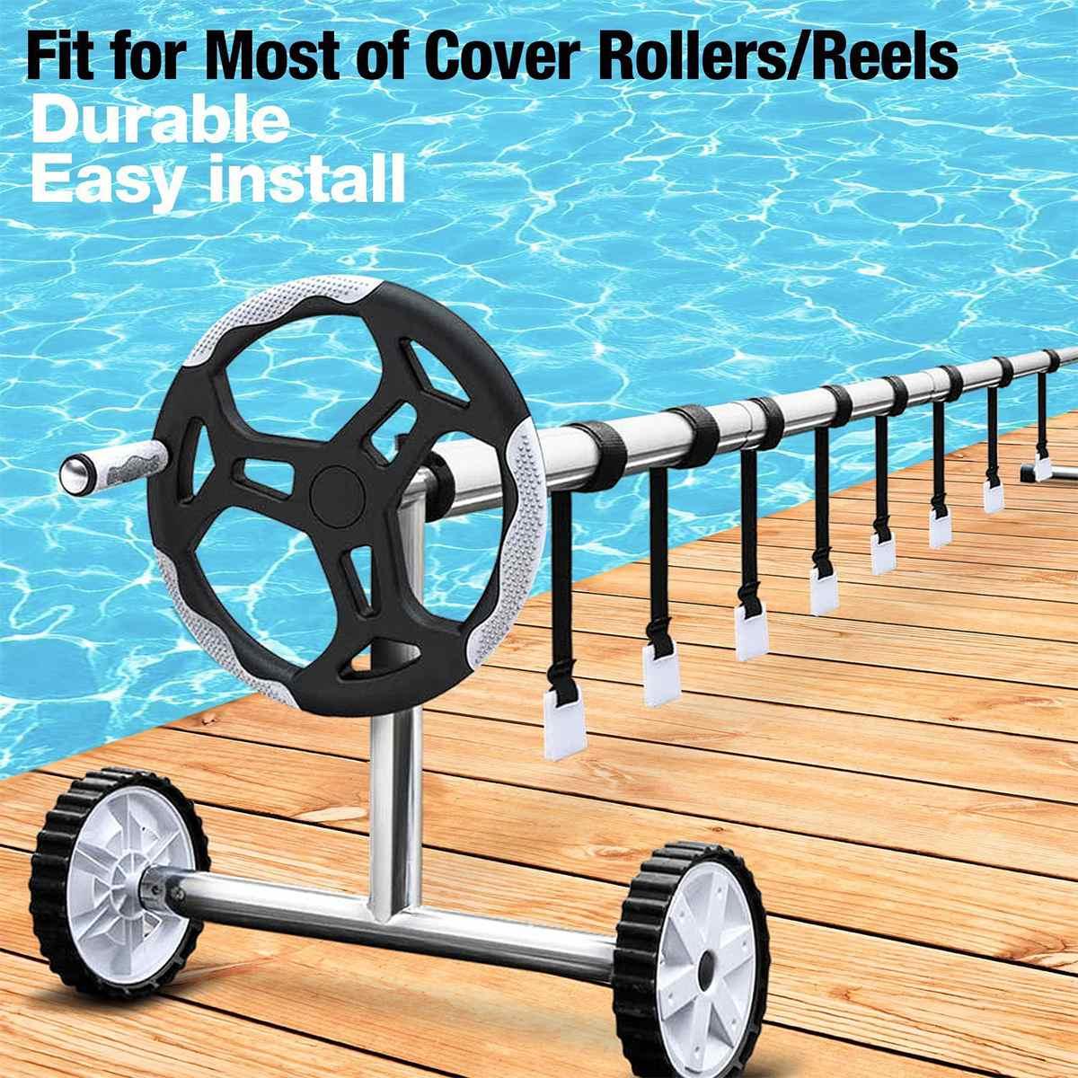 Cubierta enrollable para piscina accesorio Solar Kit de correas de Manta Universal Kit de flejado de piscina para piscina carrete de cubierta Solar