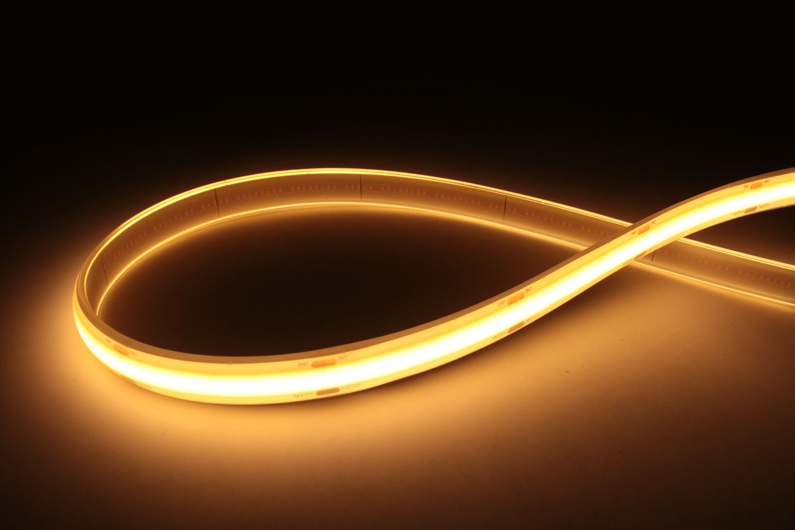 Free Shipping 24V warm white and cool white CCT 14W 608 LED/M COB dual color 2700K to 6500K LED strip enlarge