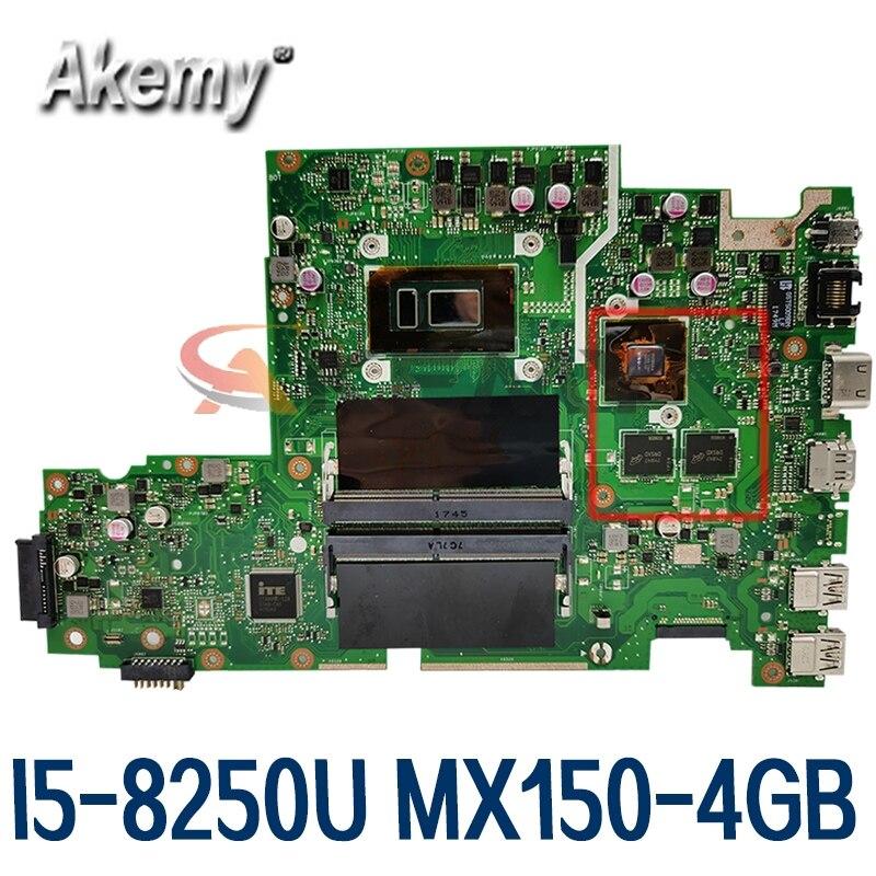 X542UN اللوحة الأصلية ل ASUS VivoBook X542UN X542UR X542UQ X542U FL8000U مع I5-8250U MX150-4GB اللوحة المحمول