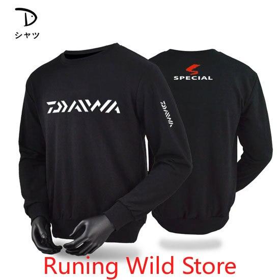 2020 nuevo hombre ropa de pesca de manga larga Outdooe transpirable DAIWA camisetas de talla grande de algodón ropa de pesca deportes cachemir Tee