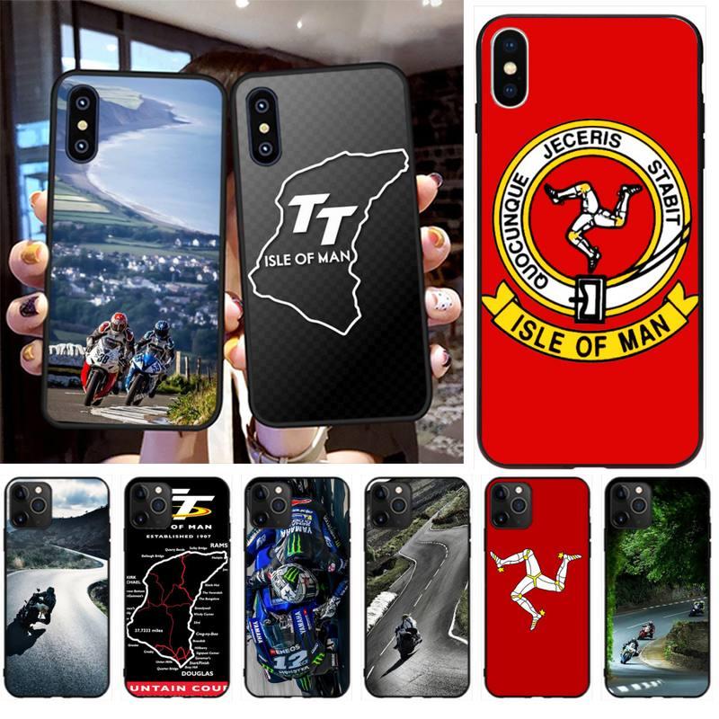 NBDRUICAI MOTO GP, Isla de MAN TT recién llegado negro Funda para Teléfono Celular para iPhone 11 pro XS MAX 8 7 6 6S Plus X 5S SE XR caso
