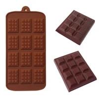 12 cavity silicone chocolate cake mold rectangle lattice waffle fondant decorating block mould candy diy baking tools