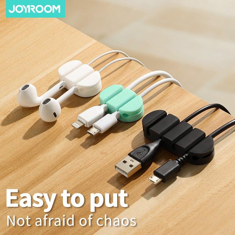 Organizador de cables, enrollador de cables USB Flexible de silicona, Clips de gestión para auriculares, auriculares y ratón, Cable de datos, soporte para envoltorio