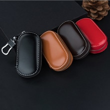 Key Case Multi-function Leather Key Case Car Key Bag For Faraday Cage Keyless Entry Key Fob Pouch Ca