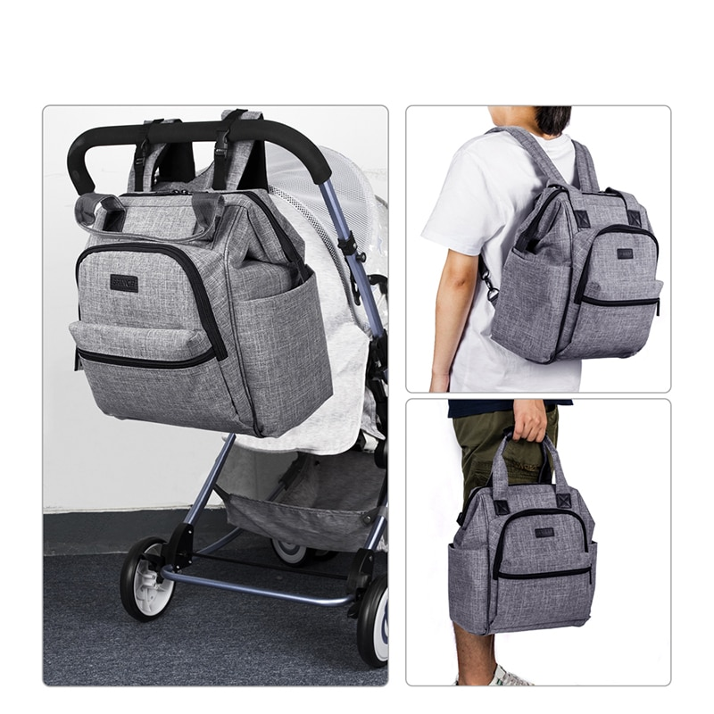 Waterproof Diaper Bag for Mommy Maternity Nappy Backpack Baby Stroller Pram Organizer Nursing Changing Care