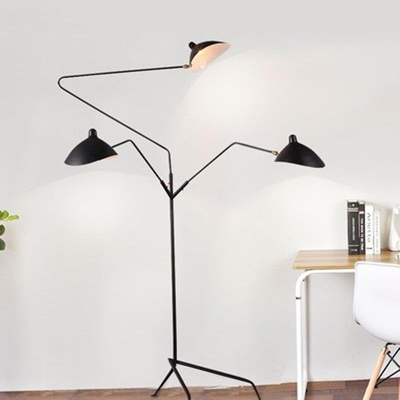 LOFT Industrial Tripod Floor Lamp Adjustable Corner Floor light Vintage Serge lamp for Living Room Decor Standing Lamp