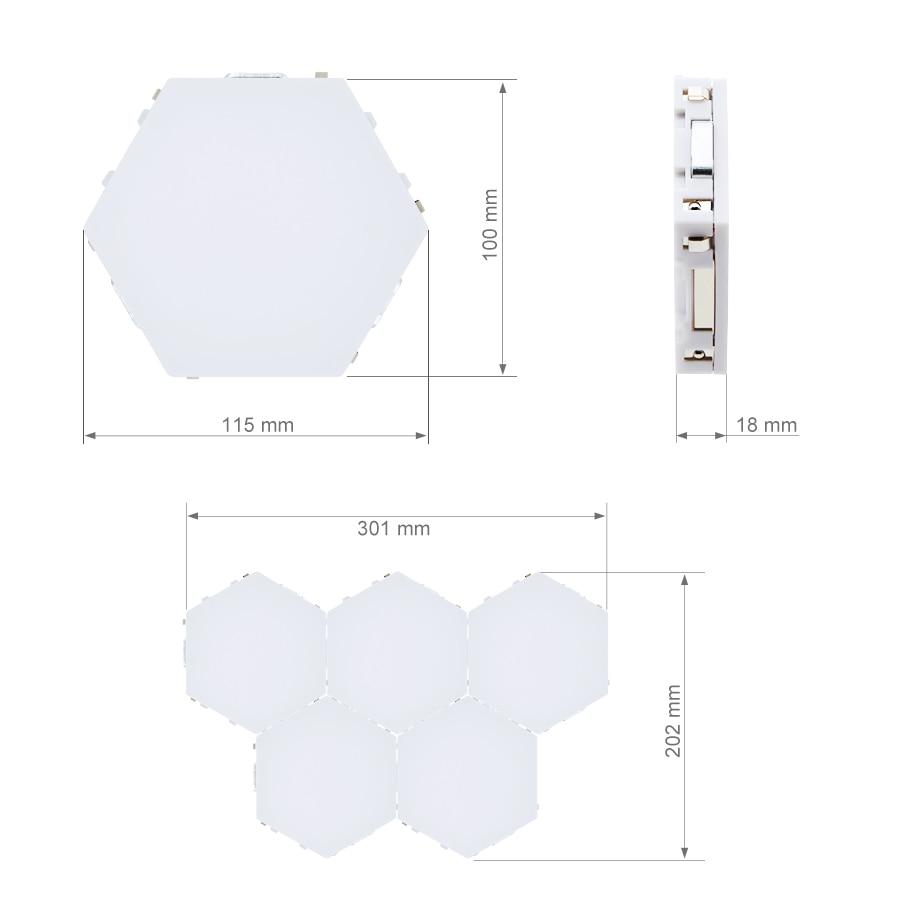 10pcs Hexagonal Lamps Touch Sensitive Lighting DIY Night Lamp LED Magnetic Wall Lamp Colorful Novelty Lights Modular Decor Light enlarge
