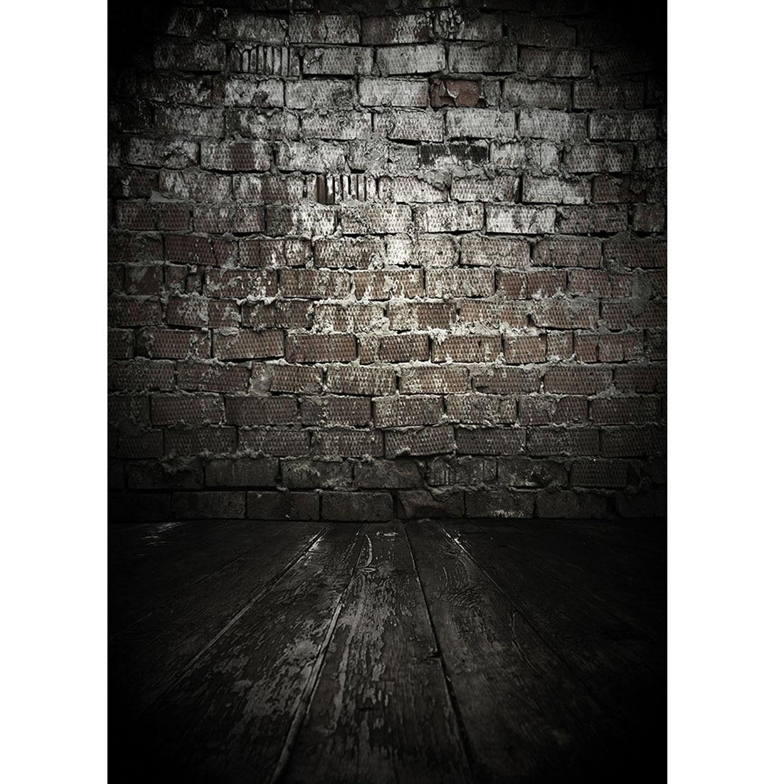 Black Brick Wall Wooden Floor Photography Backdrop Vinyl Backgrounds Photo Studio  for Children Baby Toy Pet Photoshoot Props