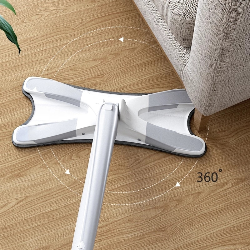 X-Type Floor Squeeze Mop with Reusable Microfiber Pads 360 Degree Flat Mop For Home Hand-Free Wash Household Cleaning Tools enlarge
