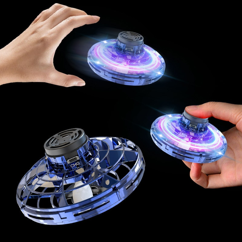 Mini Drone Flying Hand Operated Induction Aircraft Quadrocopter Flying Fingertip Gyroscope Dron UFO