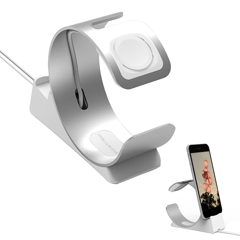 Besegad зарядная настольная станция Подставка держатель кронштейн для iPad iPhone 8X7 6 S 6 S Plus Apple Watch iWatch серии 1 2 3 4 аксессуар
