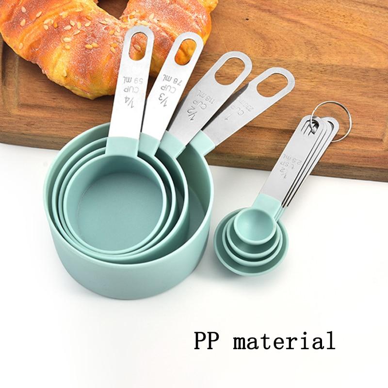 4Pcs/5pcs/10pcs Multi Purpose Spoons/Cup Measuring Tools PP Baking Accessories Stainless Steel/Plast