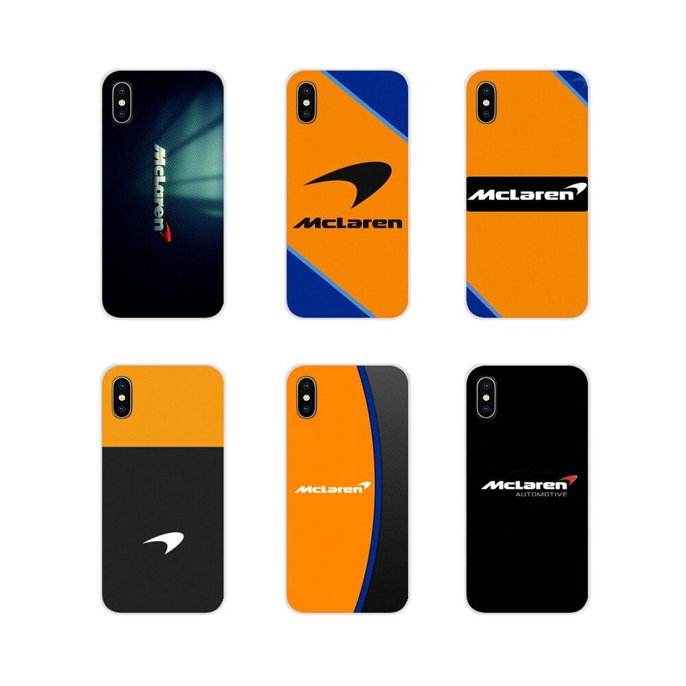 Aksesuarları telefon kılıfları kapakları Apple iPhone X XR XS 11Pro MAX 4S 5S 5C SE 6S 7 8 artı ipod touch 5 6 Mclaren Honda logosu
