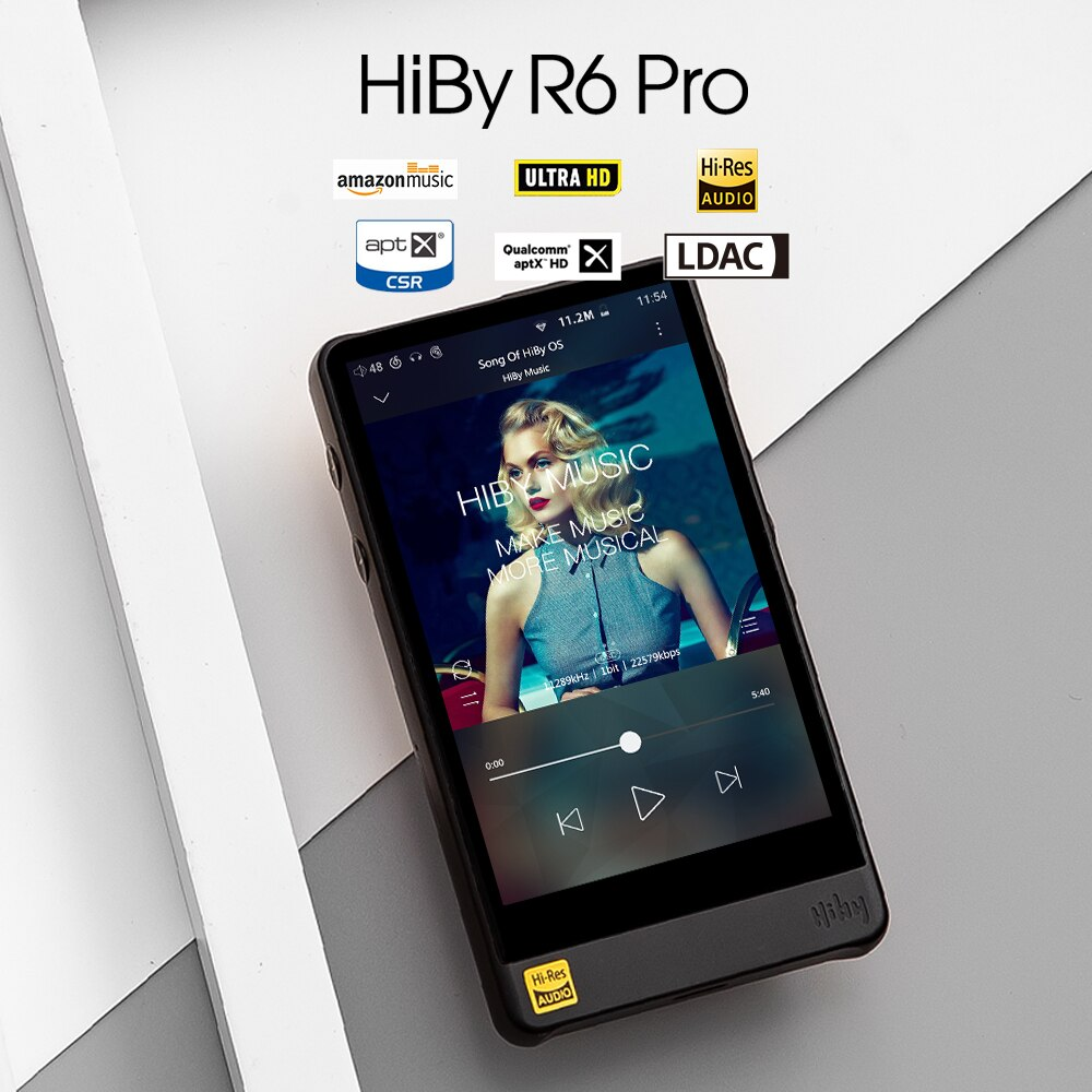 HiBy R6Pro Aluminum Alloy Android HiFi Lossless HiRes Music Player Dual ESS9028/WiFi/AirPlay/Bluetoo