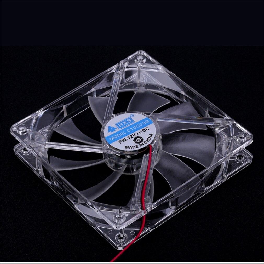 Cool 12V PC Computer Fan Quad 4 LED Light 12cm PC Computer Case Cooling Fan Mod Quiet Molex Connector Easy Installed ventilateur
