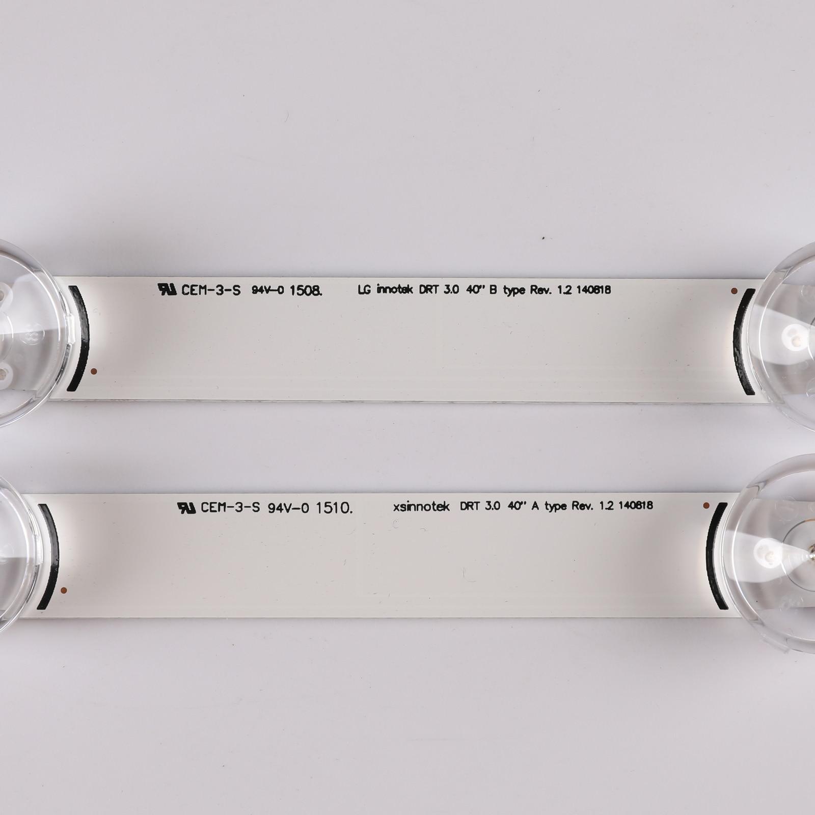 New Kit 8 PCS LED Backlight strip For LG 40LF630V 40LF570V INNOTEK 40 DRT4.0 DRT 4.0 3.0 40 inch A B SVL400  6916L-0885A 0884A enlarge