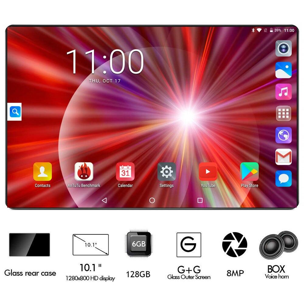 Super 2.5D Glass 10 inch tablet Octa Core 6GB RAM 128GB ROM 4G FDD LTE 1280x800 Dual SIM Card Androi