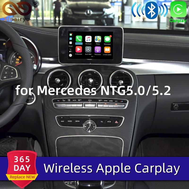Sinairyu, Apple Carplay inalámbrico para Mercedes A B C E G CLA GLA GLC S, clase de juego para coche, Android, Auto/Espejo, 2015-2019 NTG5 W205