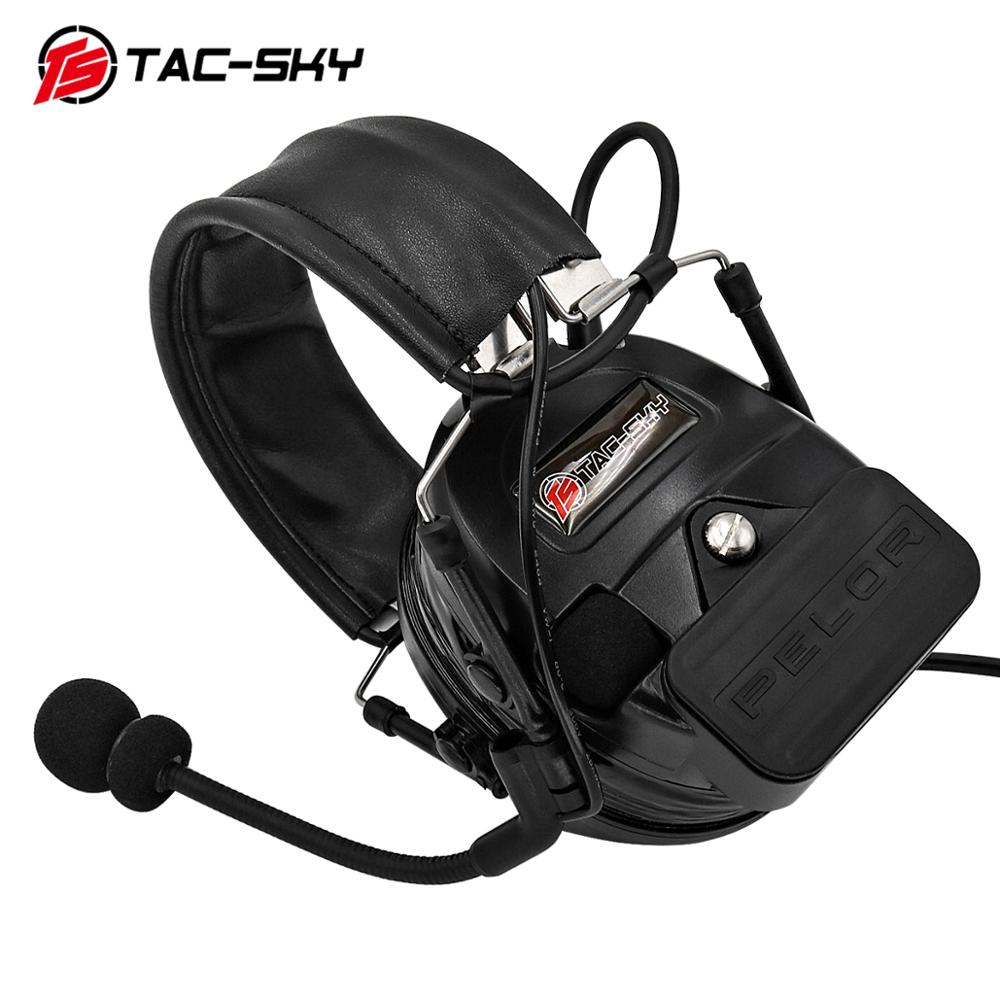 TAC-SKY COMTAC I silicone earmuffs outdoor hunting sports noise reduction pickups military tactical headphones BK+U94PTT enlarge