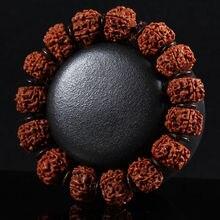 2020  Fine Jewelry Five Petal Rudraksha Bodhi Seeds Tibet Buddhism Elastic Amulet Bracelet Free Shipping