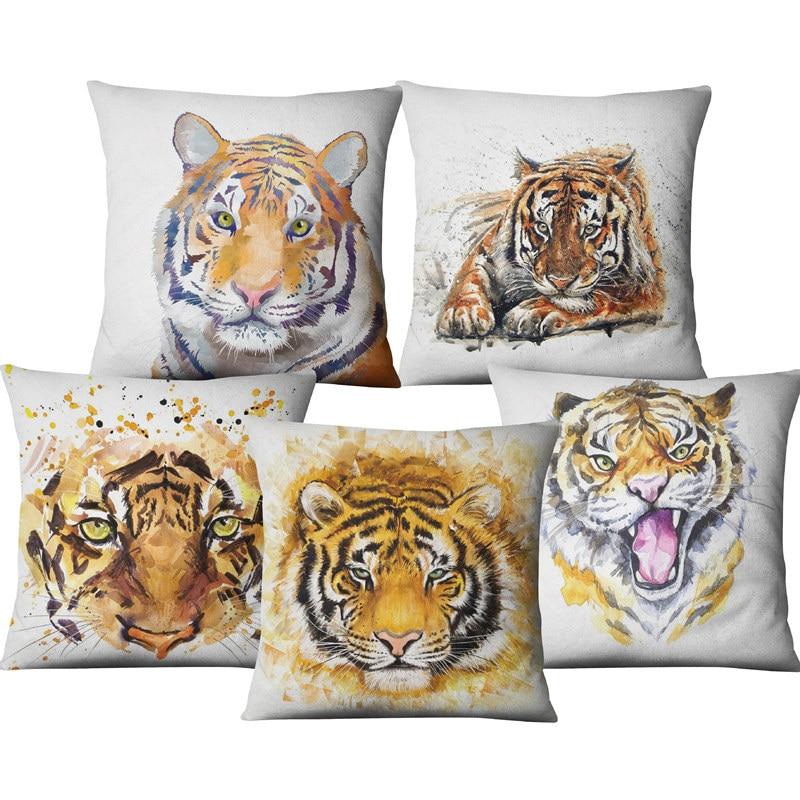 Односторонний чехол для телефона с рисунком животных, тигровый цветок, домашний декор, чехол для дивана, автомобильного кресла, кушетки