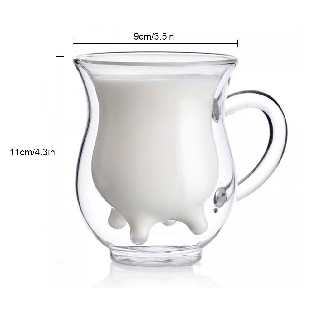 Creative Whiskey Beer Mug Double Walled Clear Glass Juice Cups  Water Coffee Tea Cup Heat-Resistant Drink Container Gril Gift