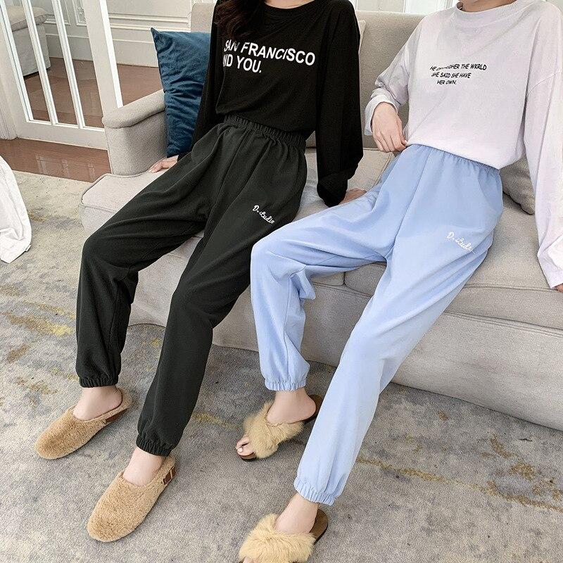 Женские бархатные штаны шаровары Sanderala свободные эластичные с поясом однотонное